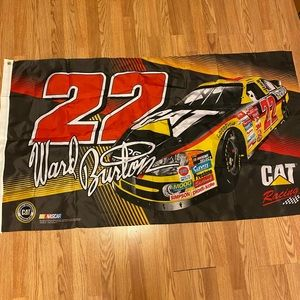 NASCAR 2-sided flag Ward Burton #22 3x5 NWT